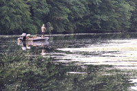 August 15, 2012 - A fisherman on Lake Whitehall near the Wood Street boat © Dick Bartlett