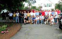August 14, 2012 - Hopkinton Firefighters past and present line up for a photo at the retirement celebration for Lt. Bob Bartlett. © Rachel Bartlett