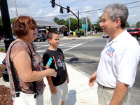 August 12, 2012 - Candidate for State Representative, Marty Lamb speaking with voters in Hopkinton.Contributed Photo Photo: