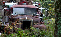 October 23, 2011 - An old Mack fire truck spends it's last days in a Woodville location.© Dick Bartlett