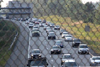 September 14, 2011 - Traffic on Rt 495 northbound was backed up south of the Mass pike because of an accident in the Southborough - Marlborough area.© Dick Bartlett