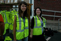 September 21, 2011 - HCAM Intern Courtney Taylor and News Producer Stephanie Kane prepare to take a facility tour at E.L. Harvey's 100th Anniversary celebration.© Michelle Murdock