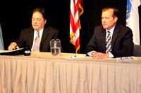 May 9, 2011 - Candidates for Selectmen, Frank D'Urso (left) and Brian Herr, debate at the HCAM Studios.© Mike Torosian