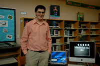 Matt Cook display the work he completed at HCAM for his senior project.