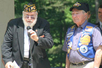 May 28, 2012 - Dick Brault gives the opening remarks for the Memorial Day ceremonies at the common.© Dick Bartlett
