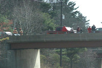 April 4, 2012 - No one was injured in a multi vehicle crash on the bridge over 495 on West Main Street . An ambulance and Rescue 1 responded.© Dick Bartlett
