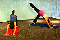 April 9, 2012 - Kristine Maselli and Ally Scrivens are back at HCAM taping a new season of Absolutely Yoga episodes.© Mike Torosian