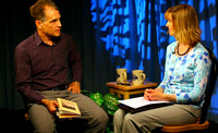April 17, 2012 - Elizabeth Lund interviews Poet/Teacher Daniel Bosch on Poetic Lines at the HCAM Studios.© Mike Torosian
