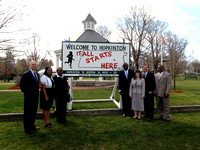 April 12, 2012 - Kenyan Ambassador Elkanah Odembo stops downtown and visits the start line before heading to Elmwood School. More photos at Scene In Hopkinton.© Michelle Murdock