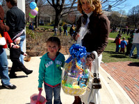 April 7, 2012 - Lily Irvine is one of the lucky ones to find a golden egg and winning a basket.