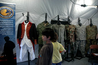 Inside the Army tent