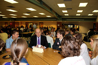 Students talk with Congressman Jim McGovern at the Student Government Breakfast on March 23, 2012