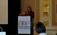 December 9, 2011 - Senator Karen Spilka speaks at the Breakfast Launch of the new MetroWest Tourism & Visitors Bureau at the Sheraton Framingham this morning.© Michelle Murdock