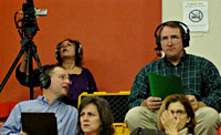 December 17, 2011 - HCAM Volunteers broadcasting another season of Hiller Swimming and Diving.© Mike Torosian