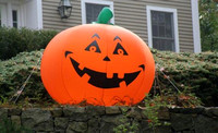 October 25, 2011 - This Halloween pumpkin was spotted on Saddle Hill Road recently.© Dick Bartlett