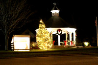December 8, 2011 - A night shot of the gazebo and surrounding holiday decorations.© Dick Bartlett