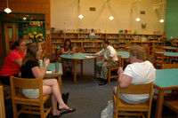 August 2, 2011 - A small group gathered in the Hopkins School cafeteria to share their thoughts about Hopkinton's School System with Superintendent Jonathan Landman.© Michelle Murdock