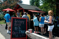 August 2, 2011 - Snappy Dogs was especially busy this afternoon as the Channel 5 Chronicle team stopped by to film. More photos at Scene in Hopkinton© Michelle Murdock