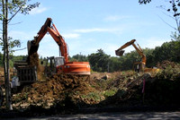 August 22, 2011 - Construction begins at Hopkinton Square at the corner of West Main and South Street.© Dick Bartlett