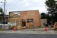 July 24, 2011 - Good progress is being made on the new Hillers Cleaners building on Main Street.© Dick Bartlett
