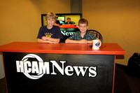 July 27, 2011 - Students in ESL's Script to Screen workshop enjoy sitting at the HCAM News Desk during their program held in the HCAM Studio.© Michelle Murdock