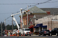 July 21, 2011 - NStar crews were changing some wiring in front of the town hall on a hot July day.© Dick Bartlett