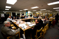 Board of Selectmen, School Committee and Appropriations Committee hold joint working session to discuss FY12 budget.Photo by Mark Collins
