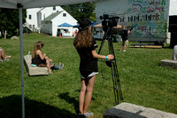 HCAM volunteer Amanda Dings on camera.Photo by Michelle Murdock