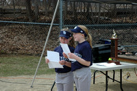 Reading the Little League Pledge at the opening day parade.Photo by Michelle Murdock