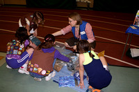 Brownies in Troop 2955 participate in an heat experiment conducted by the Discovery Museum of Action.© Michelle Murdock