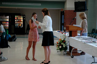 Shannon McAree receives the English and Spanish II Departmental Awards for Grade 9.© Michelle Murdock