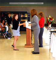 Molly Abate receives a 9th grade English award.