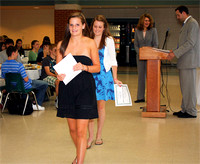 Liz Brown and Caroline Shea receive the HOBY Leasdership Ambassador Award.