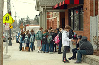 March 2, 2011 - Early release was enjoyed by all outside Bill's Pizza. © Vicki Francis