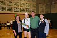 Hiller Volleyball Senior Night 10-17-2014
